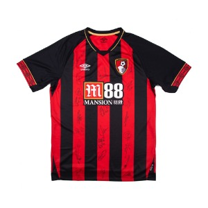 BOURNEMOUTH 18-19 HOME SQUAD SIGNATURE JERSEY