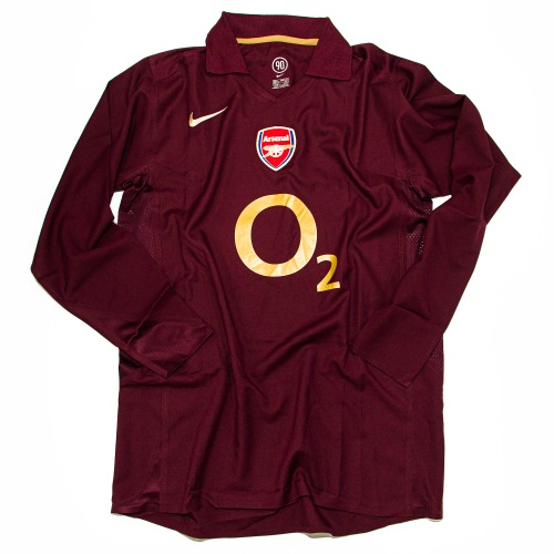 ARSENAL 2005-2006 HOME L/S L (PLAYER ISSUE / UCL VER.) #14 HENRY